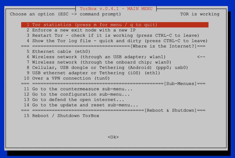 Main Menu TorBox v.0.4.1